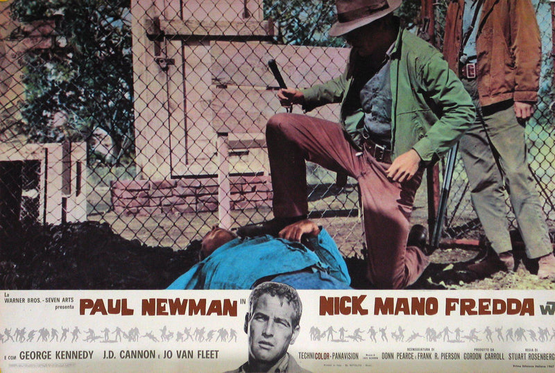 Cool Hand Luke Italian Photobusta (18x26) Original Vintage Movie Poster