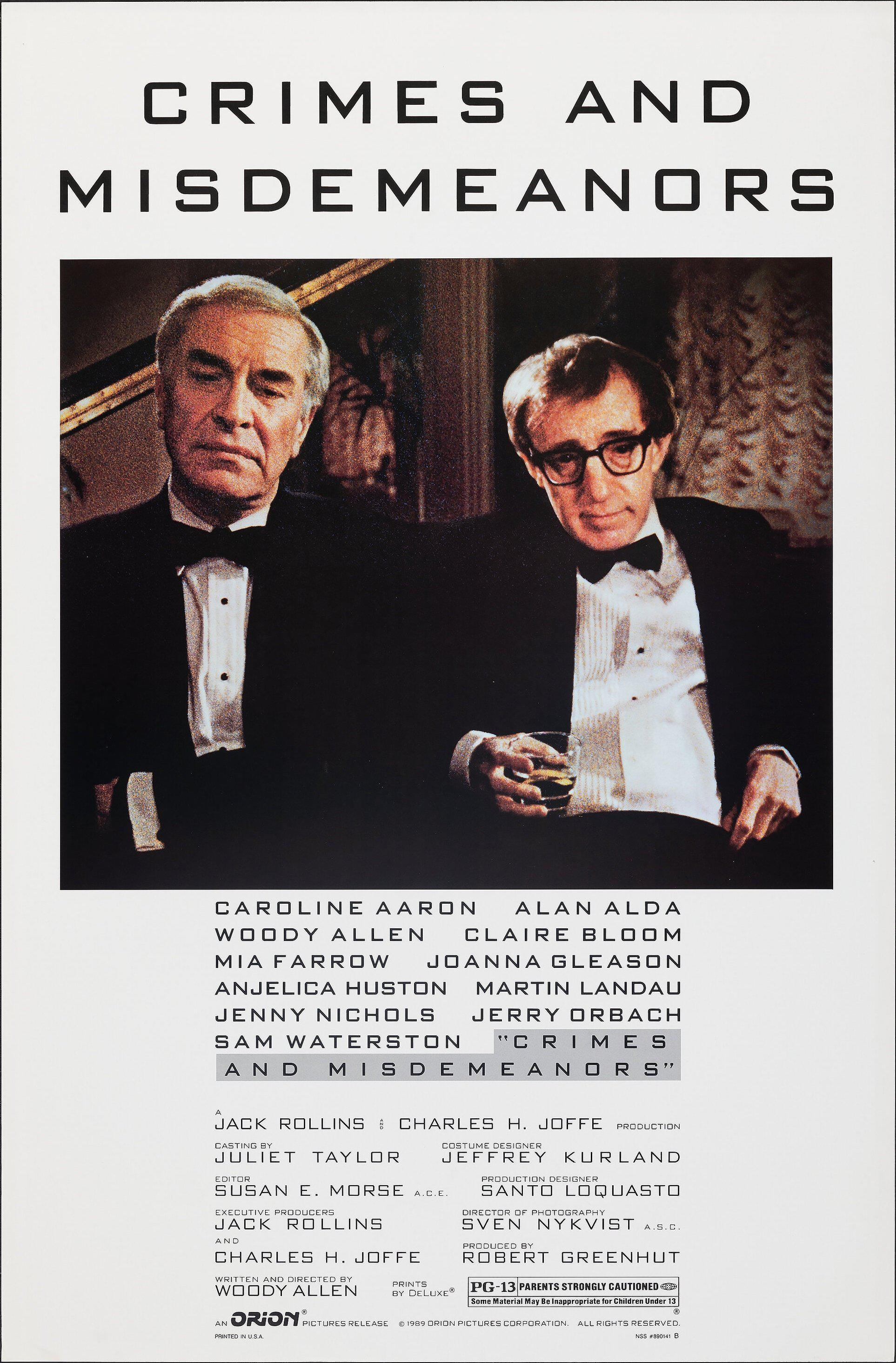 Crimes and Misdemeanors 1 Sheet (27x41) Original Vintage Movie Poster