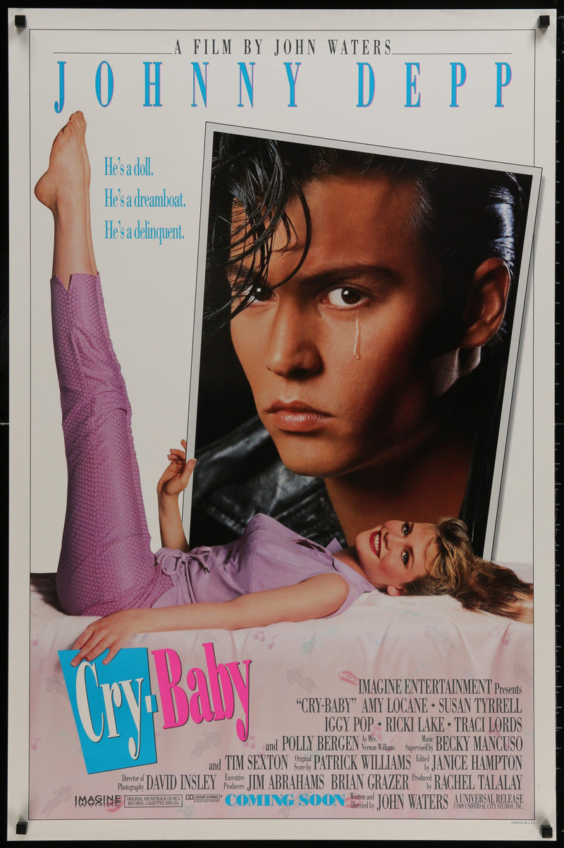 Cry Baby 1 Sheet (27x41) Original Vintage Movie Poster