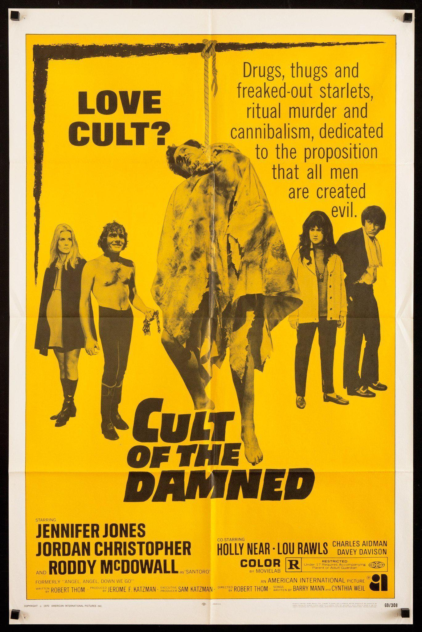Cult Of the Damned (Angel Angel Down We Go) 1 Sheet (27x41) Original Vintage Movie Poster