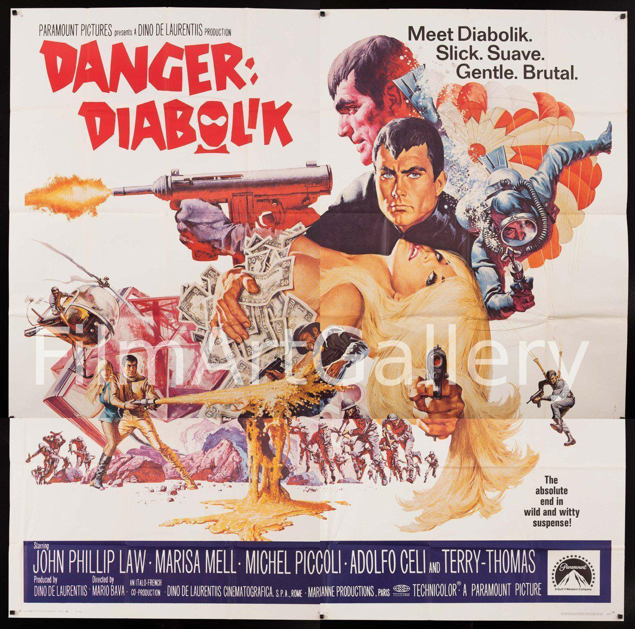 Danger: Diabolik 6 Sheet (81x81) Original Vintage Movie Poster