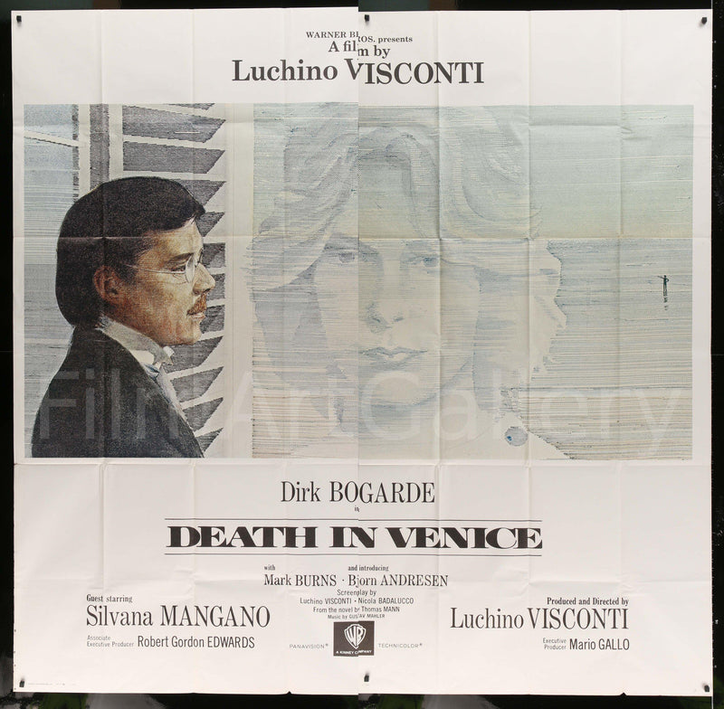 Death in Venice 6 Sheet (81x81) Original Vintage Movie Poster
