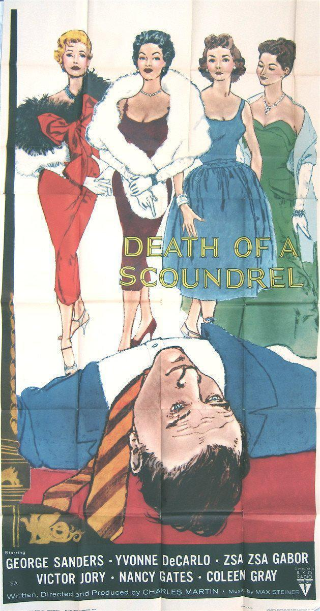 Death of a Scoundrel 3 Sheet (41x81) Original Vintage Movie Poster