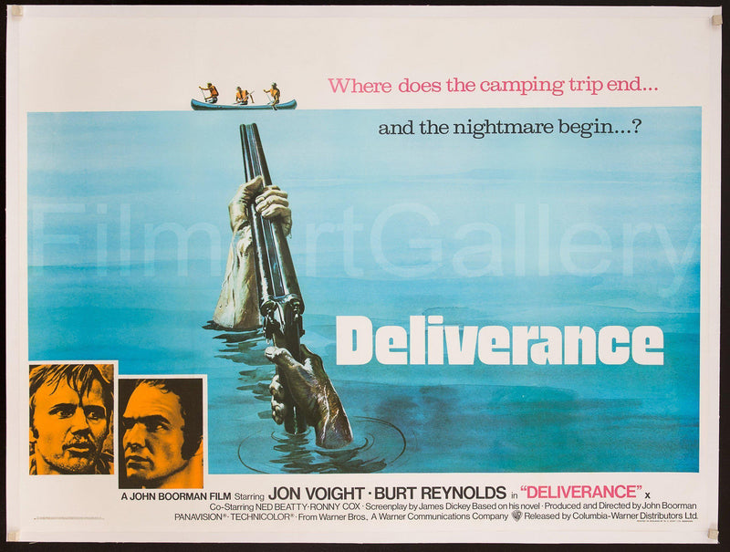 Deliverance British Quad (30x40) Original Vintage Movie Poster
