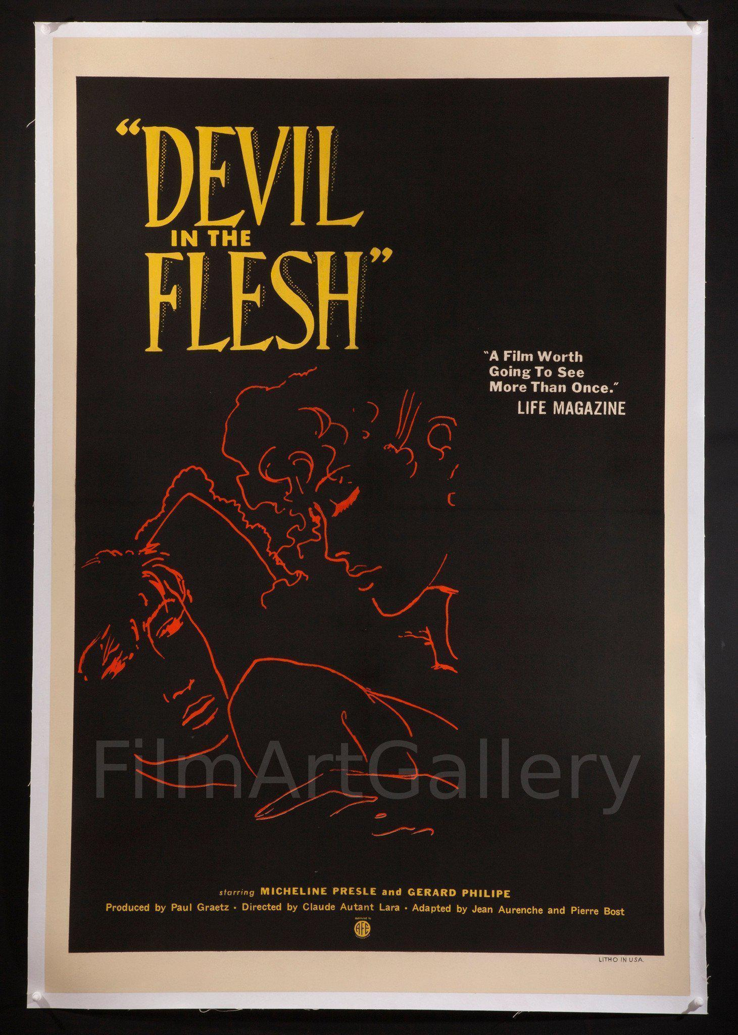 Devil in the Flesh (Le Diable Au Corps) 1 Sheet (27x41) Original Vintage Movie Poster