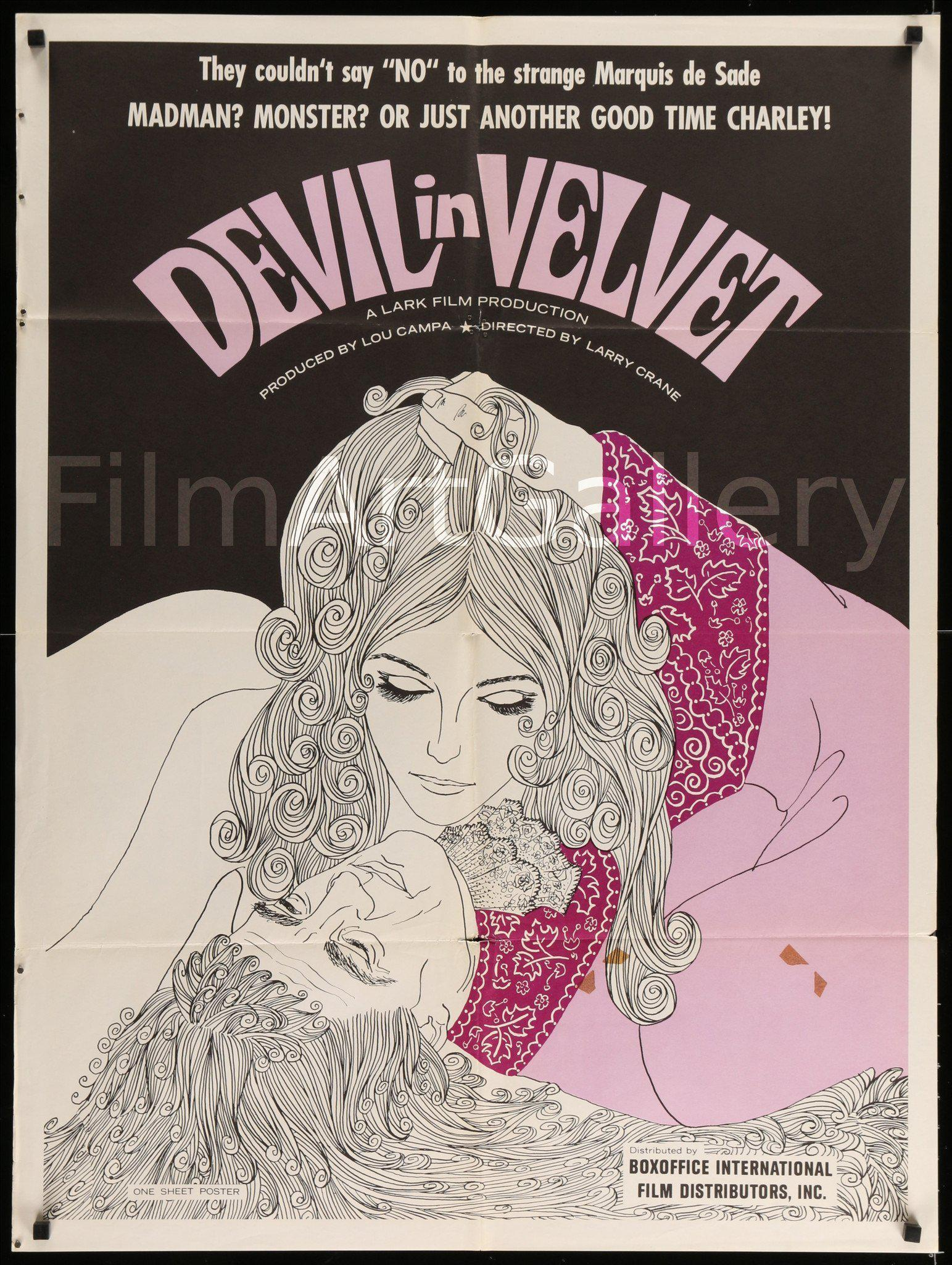 Devil In Velvet 1 Sheet (27x41) Original Vintage Movie Poster