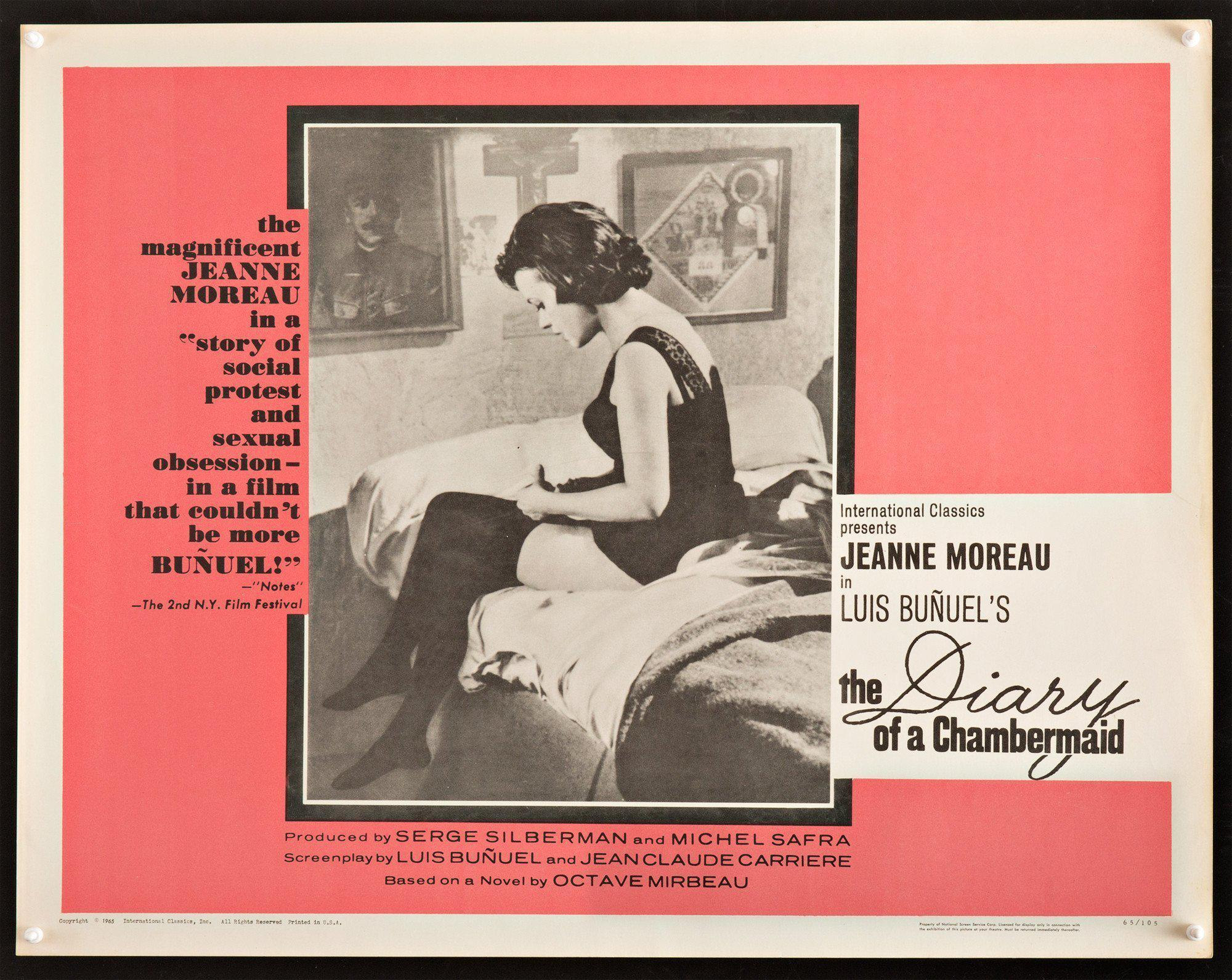 Diary of a Chambermaid Half sheet (22x28) Original Vintage Movie Poster
