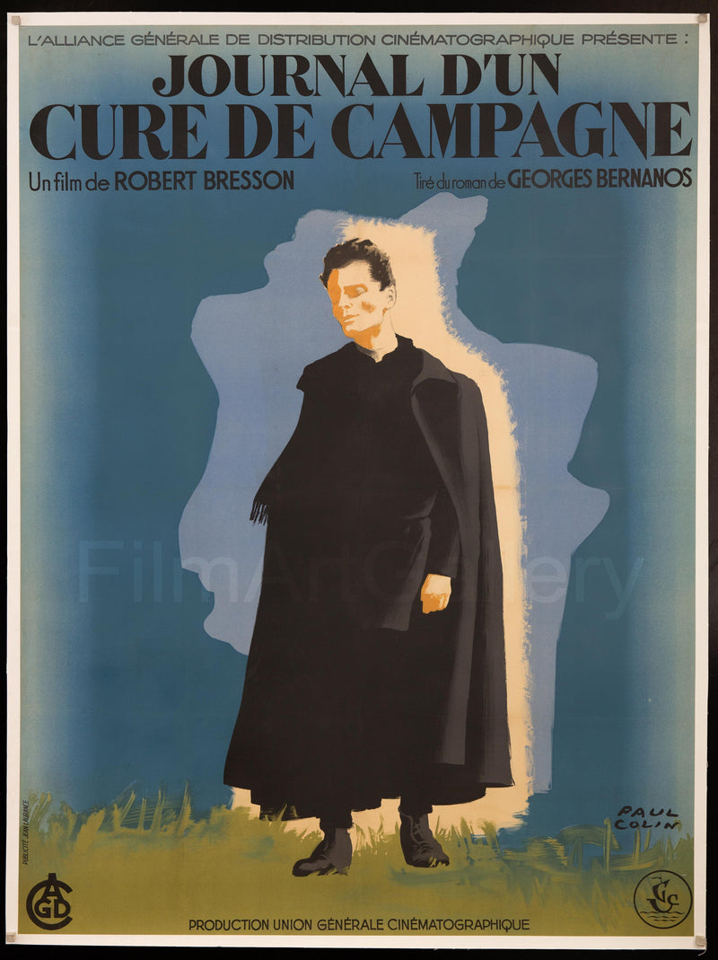 Diary of a Country Priest (Journal D'Un Cure De Campagne) French 1 Panel (47x63) Original Vintage Movie Poster