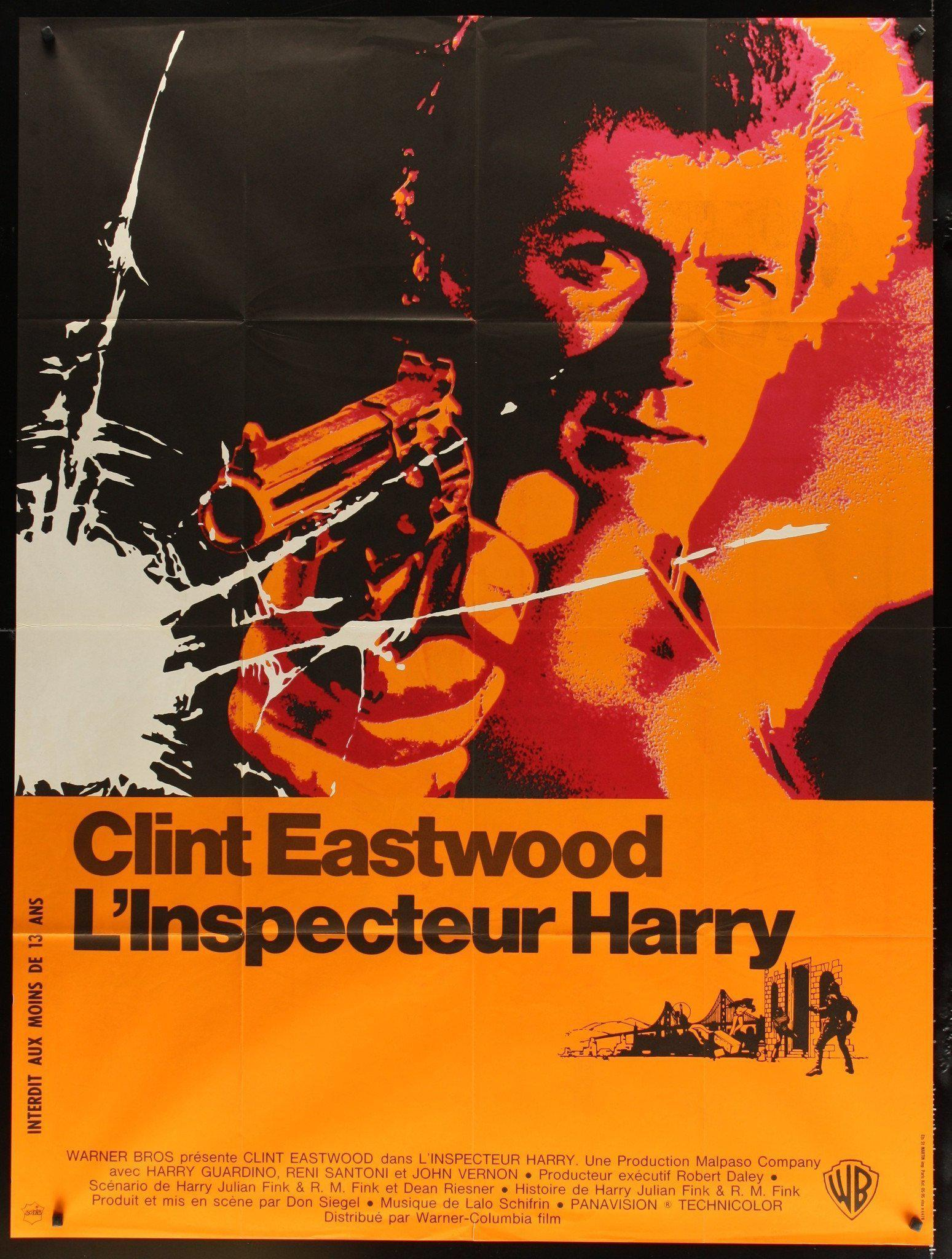 Dirty Harry French 1 panel (47x63) Original Vintage Movie Poster