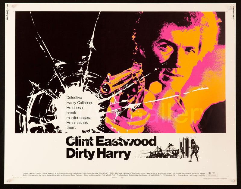 Dirty Harry Half sheet (22x28) Original Vintage Movie Poster