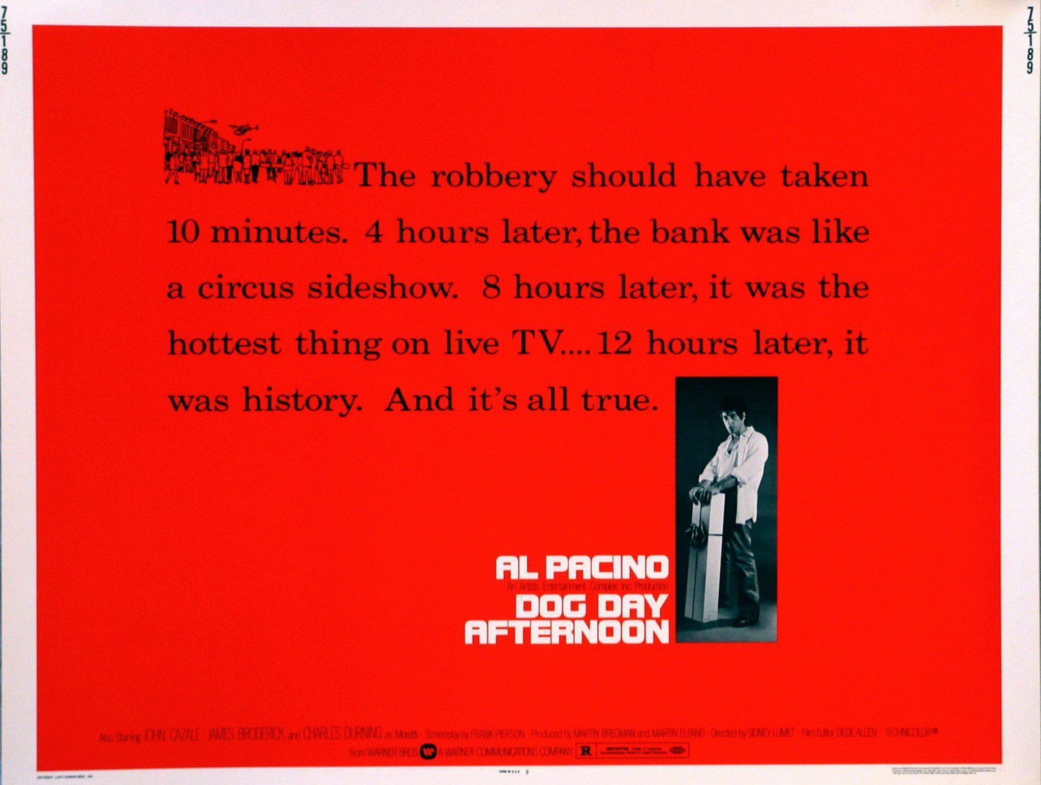 Dog Day Afternoon Half sheet (22x28) Original Vintage Movie Poster