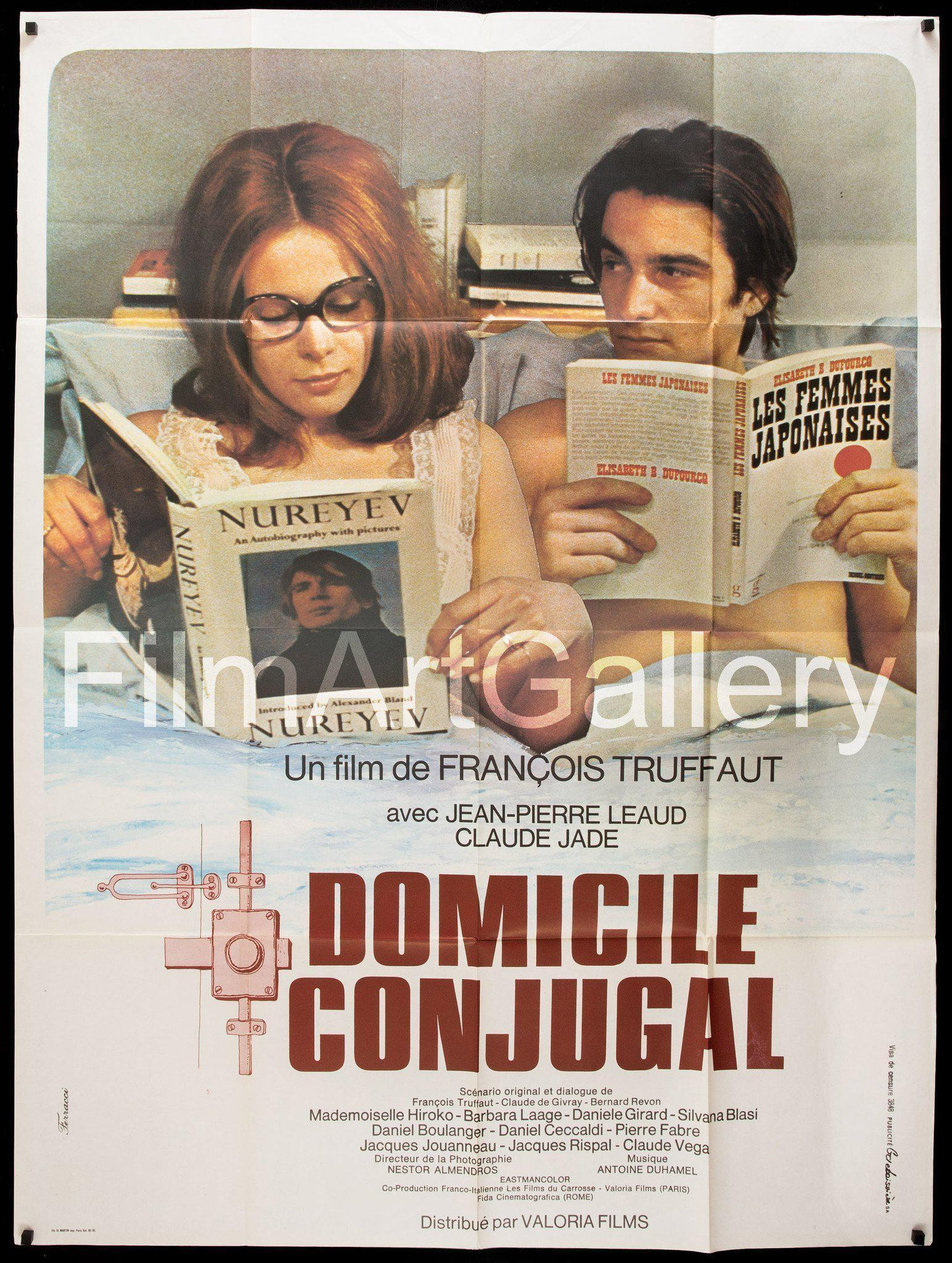 Domicile Conjugal (Bed and Board) French 1 Panel (47x63) Original Vintage Movie Poster