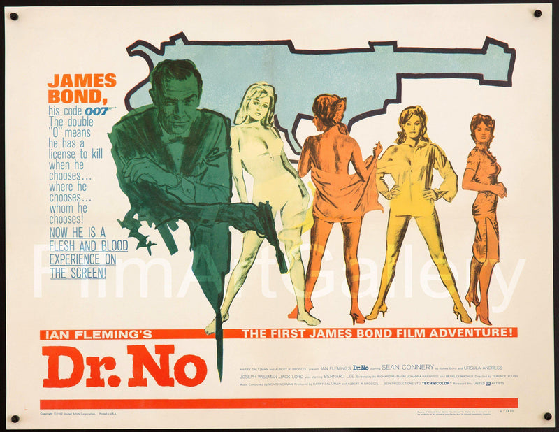 Dr. No Half Sheet (22x28) Original Vintage Movie Poster