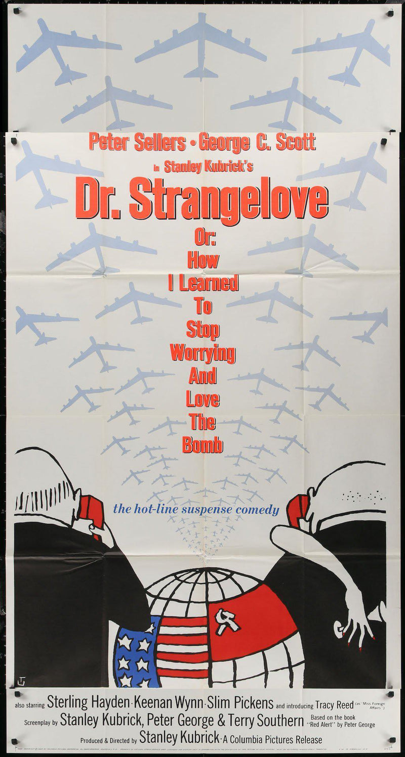 Dr. Strangelove 3 Sheet (41x81) Original Vintage Movie Poster