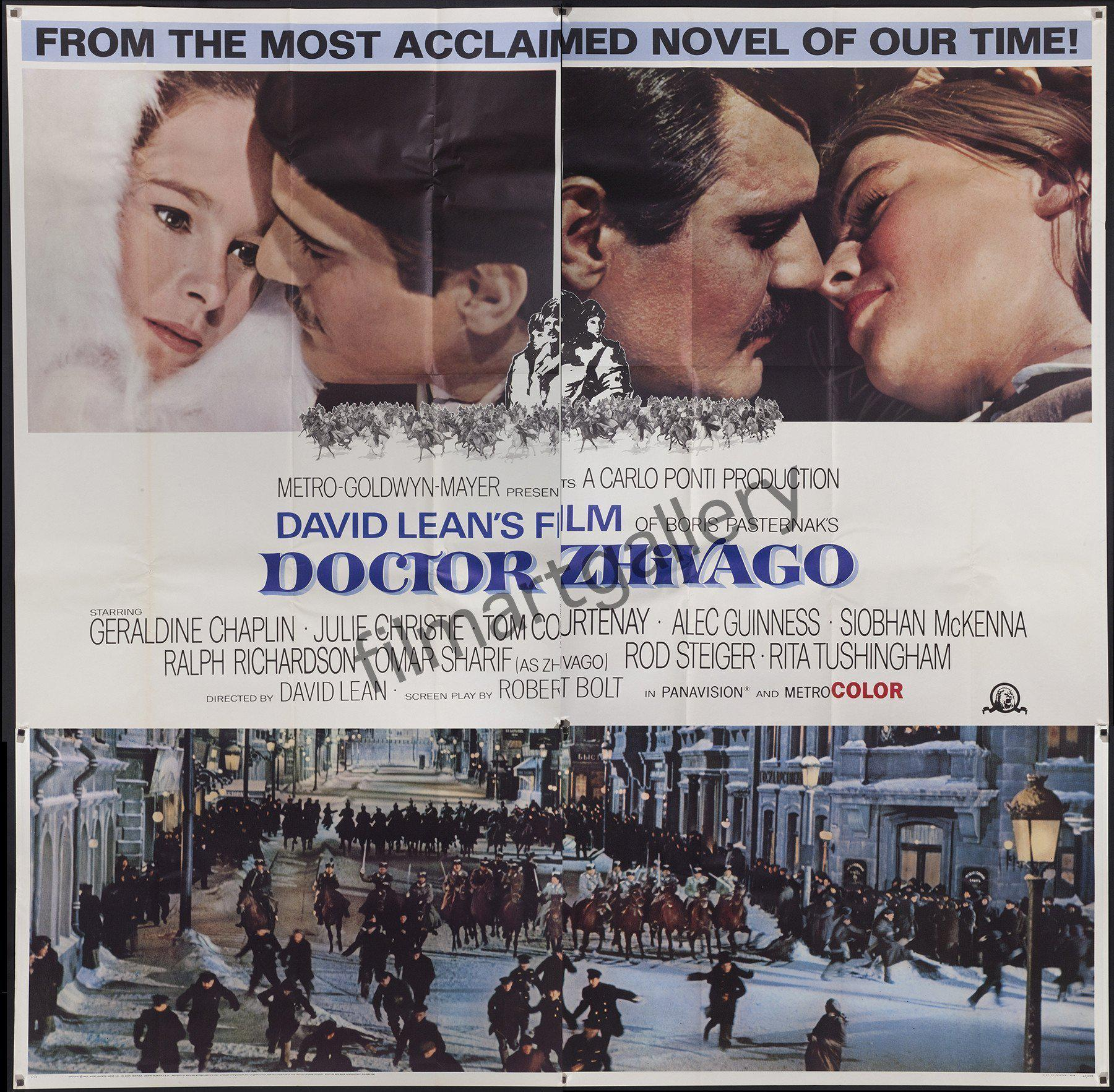 Dr. Zhivago 6 Sheet (81x81) Original Vintage Movie Poster