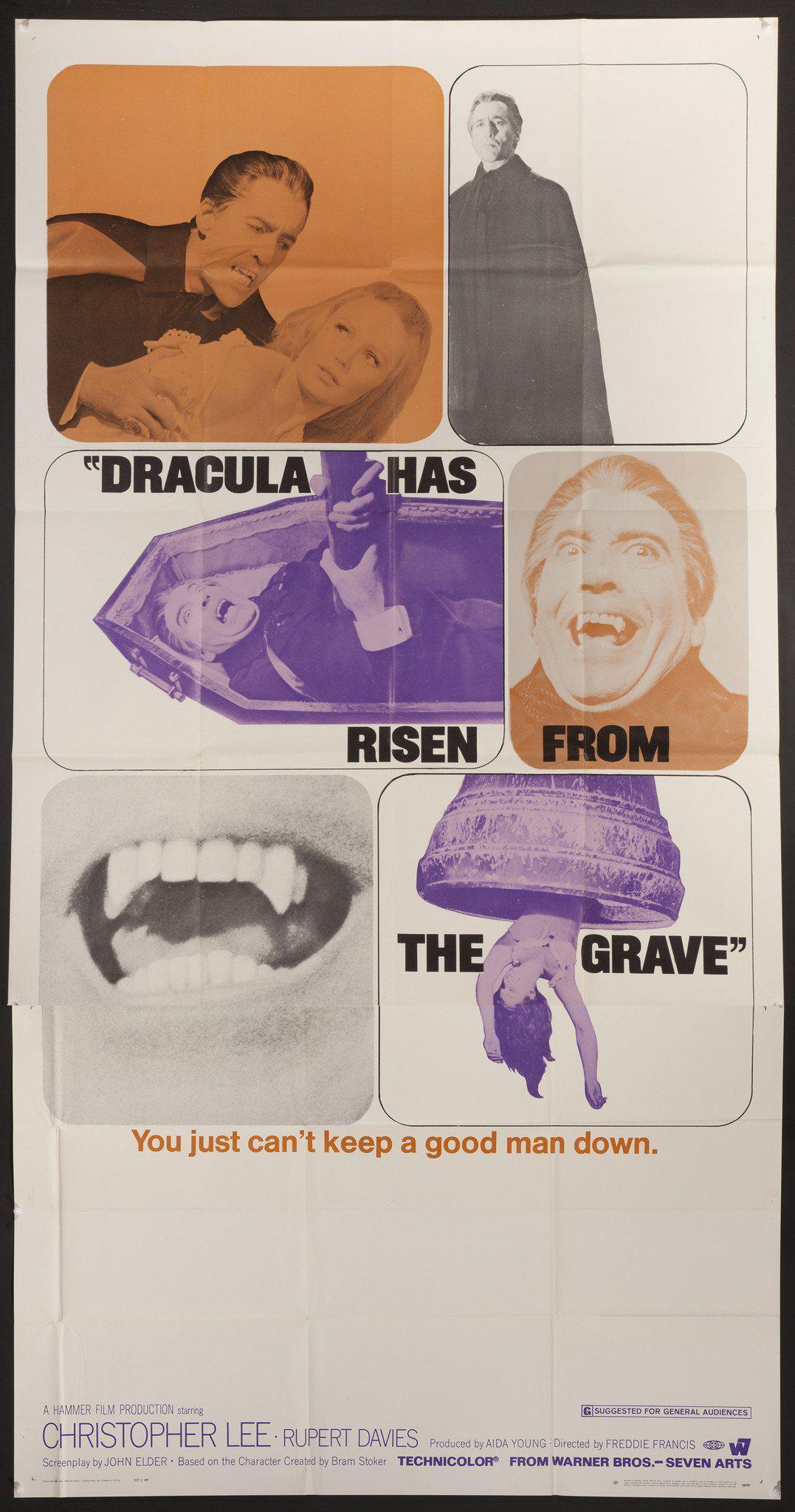 Dracula Has Risen From the Grave 3 Sheet (41x81) Original Vintage Movie Poster