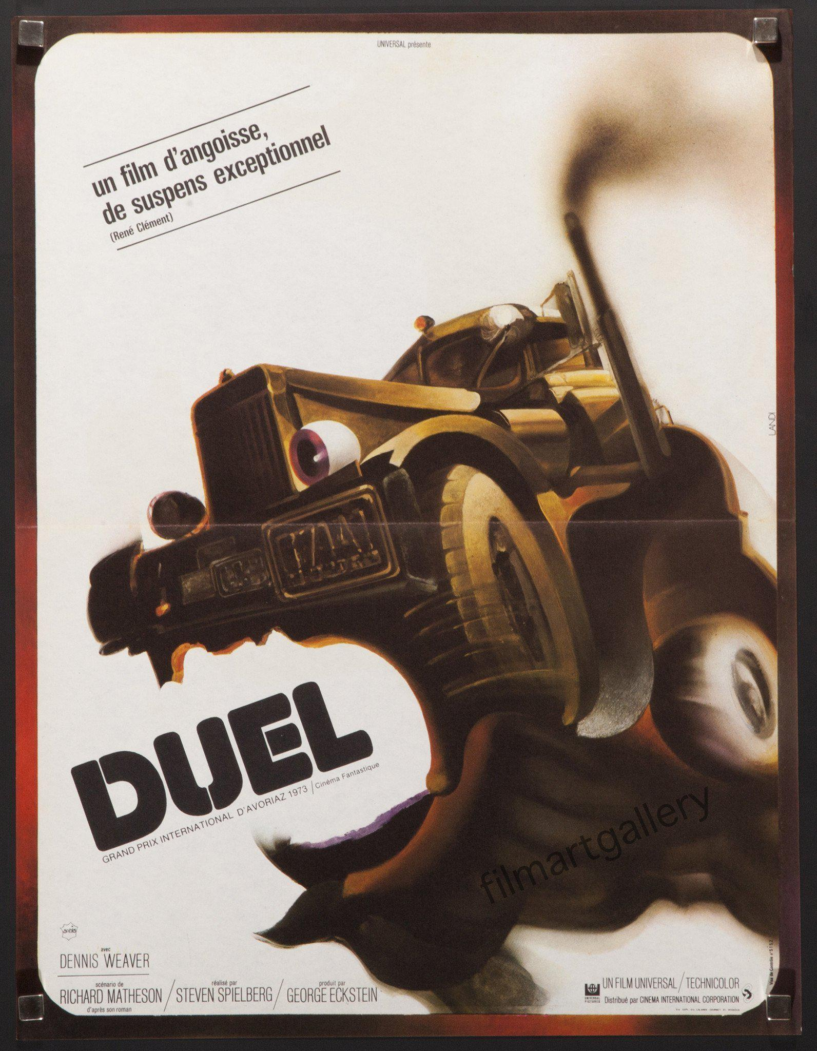 Duel French mini (16x23) Original Vintage Movie Poster