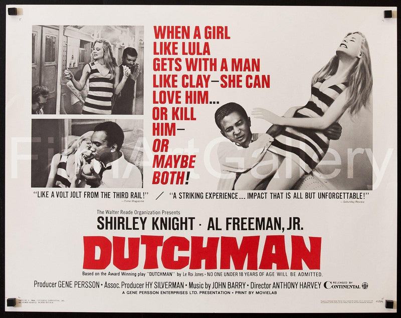 Dutchman Half Sheet (22x28) Original Vintage Movie Poster