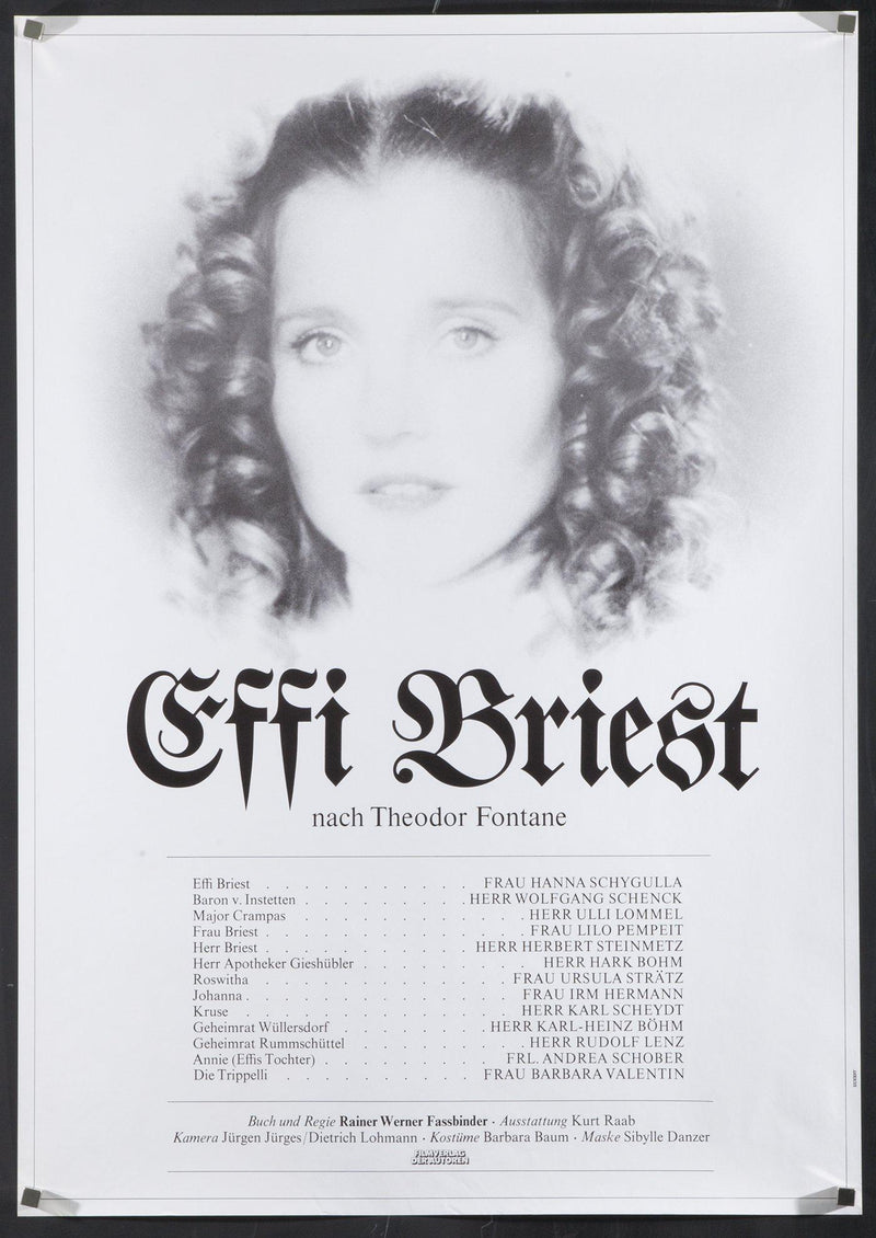 Effi Briest German A1 (23x33) Original Vintage Movie Poster