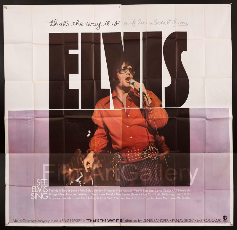 Elvis That's The Way It Is 6 Sheet (81x81) Original Vintage Movie Poster