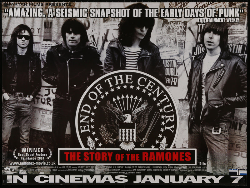 End of the Century Story of the Ramones British Quad (30x40) Original Vintage Movie Poster