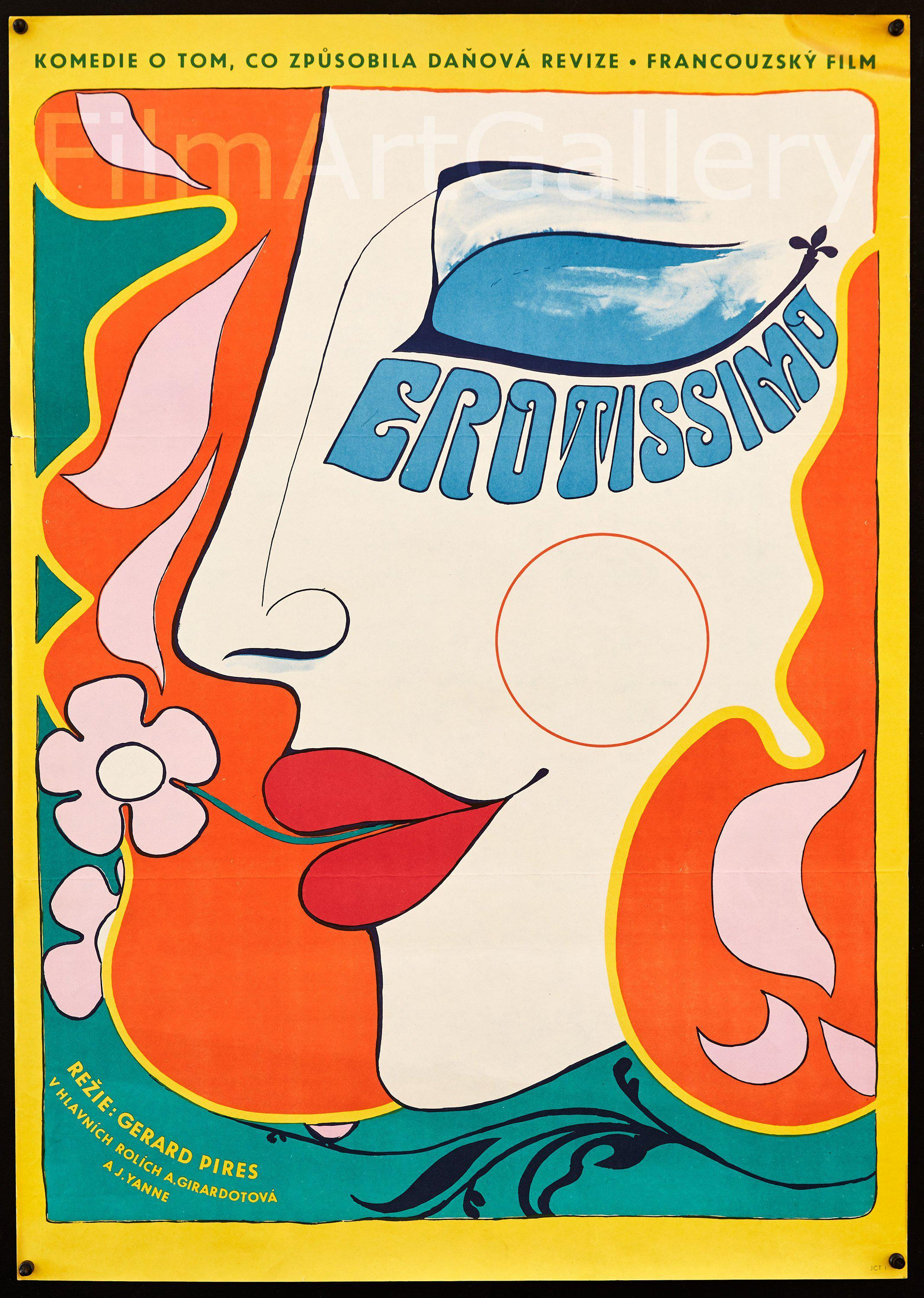 Erotissimo Czech (23x33) Original Vintage Movie Poster