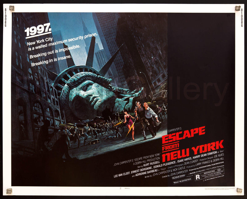 Escape From New York Half Sheet (22x28) Original Vintage Movie Poster