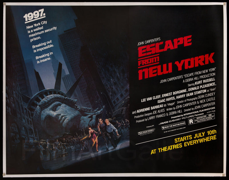 Escape From New York Subway 2 Sheet (45x59) Original Vintage Movie Poster
