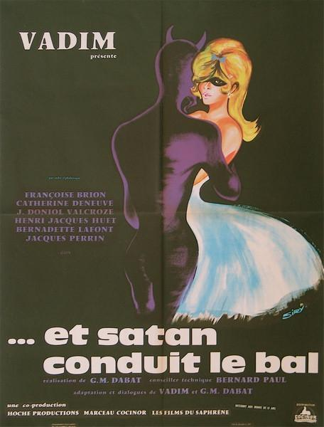 Et Satan Conduit Le Bal French small (23x32) Original Vintage Movie Poster