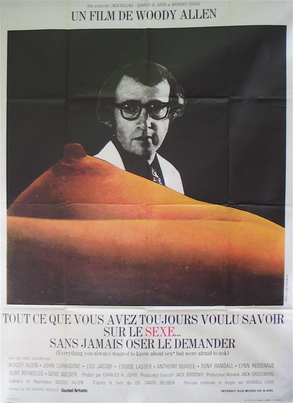 Everything You Always Wanted to Know About Sex... French 1 panel (47x63) Original Vintage Movie Poster