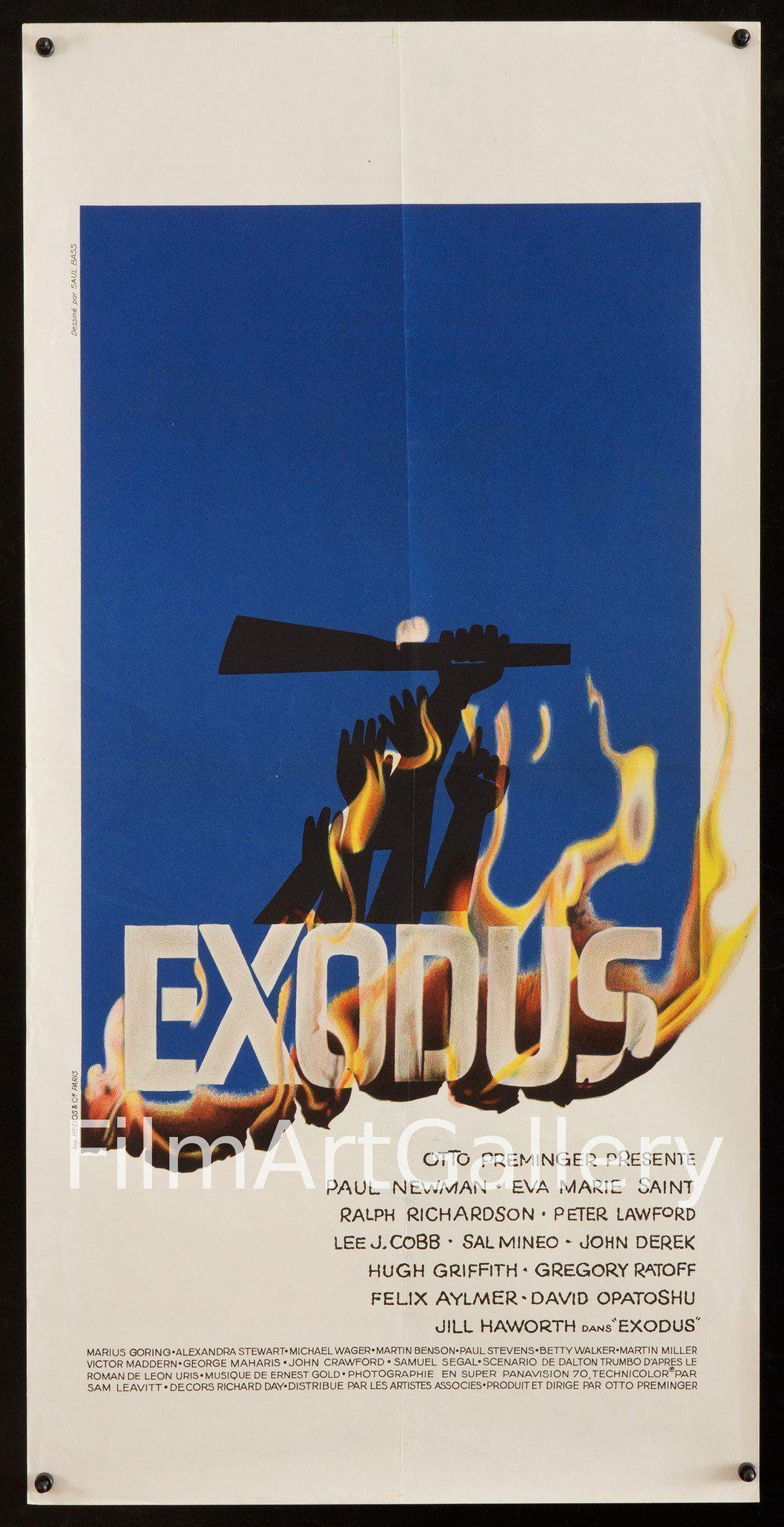 Exodus 15x31 Original Vintage Movie Poster