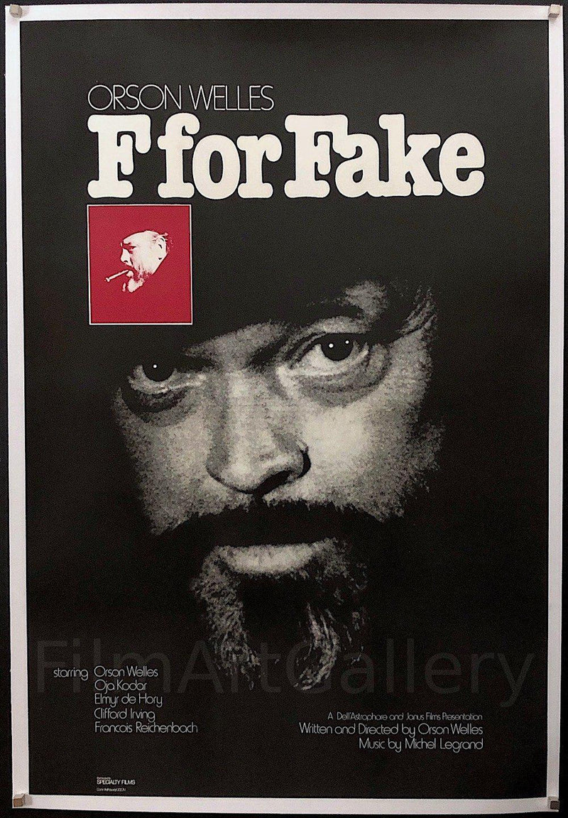 F For Fake 1 Sheet (27x41) Original Vintage Movie Poster