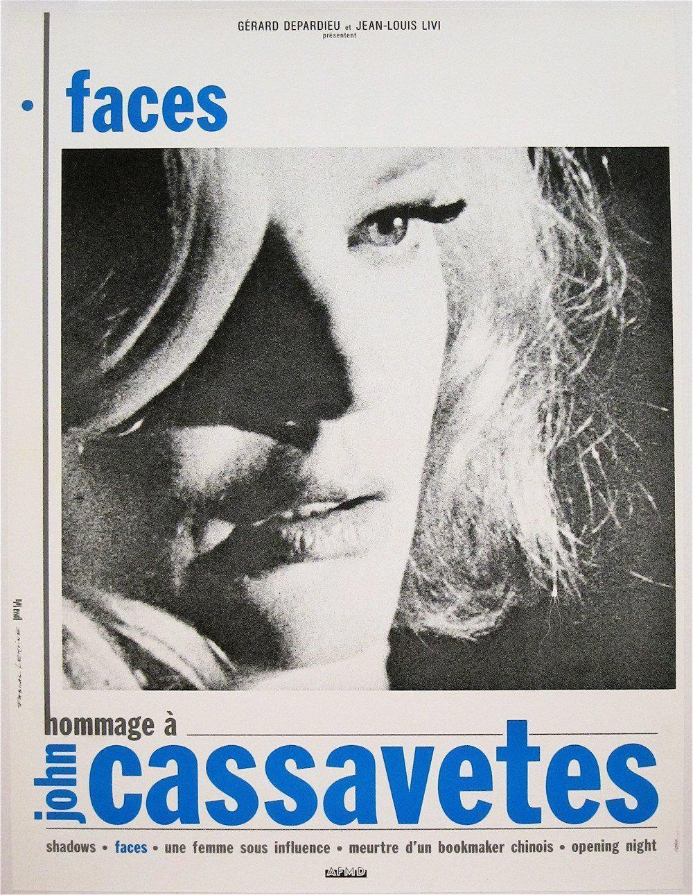 Faces French mini (16x23) Original Vintage Movie Poster