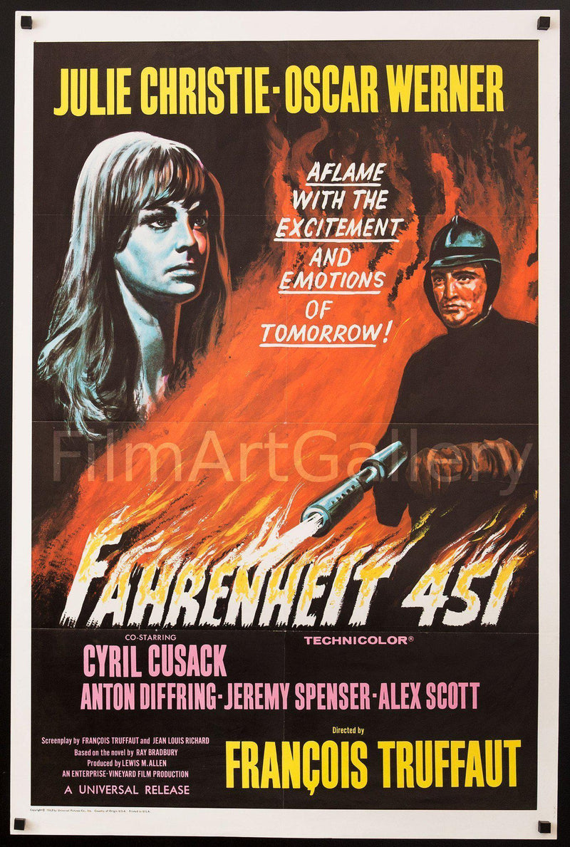 Fahrenheit 451 1 Sheet (27x41) Original Vintage Movie Poster