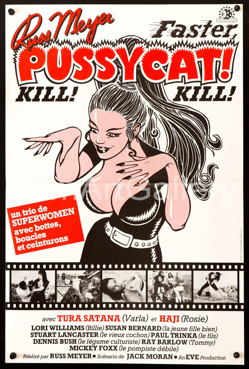 Faster Pussycat! Kill! Kill! French mini (16x23) Original Vintage Movie Poster