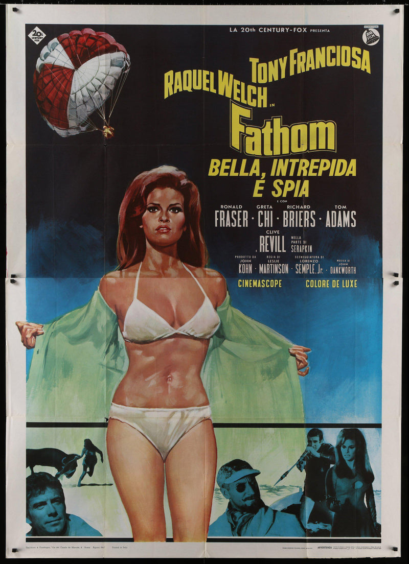Fathom Italian 4 foglio (55x78) Original Vintage Movie Poster