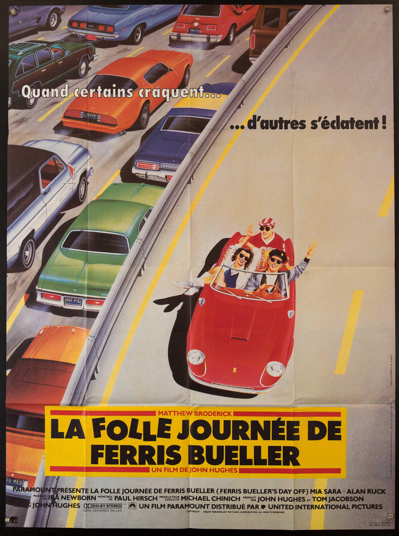 Ferris Bueller's Day Off French 1 panel (47x63) Original Vintage Movie Poster