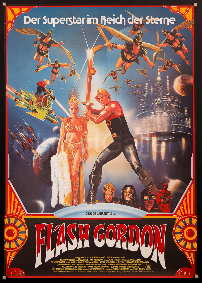 Flash Gordon German A0 (33x46) Original Vintage Movie Poster
