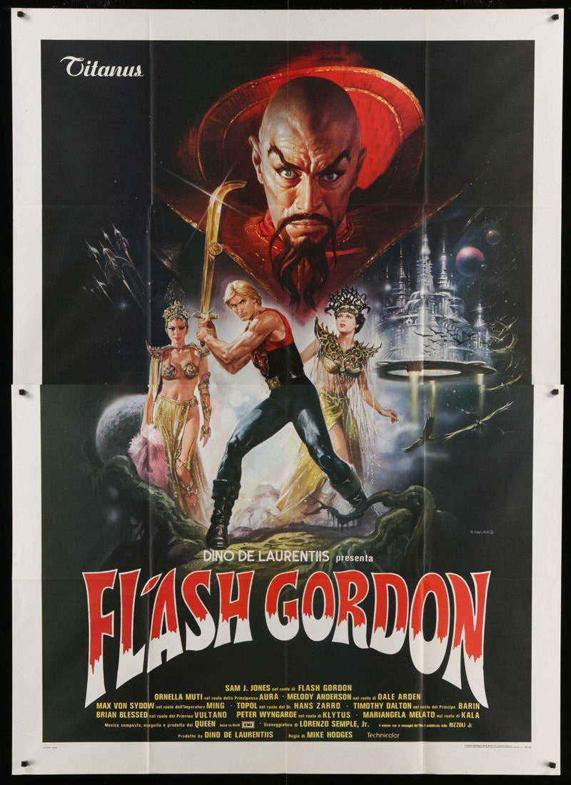 Flash Gordon Italian 4 Foglio (55x78) Original Vintage Movie Poster