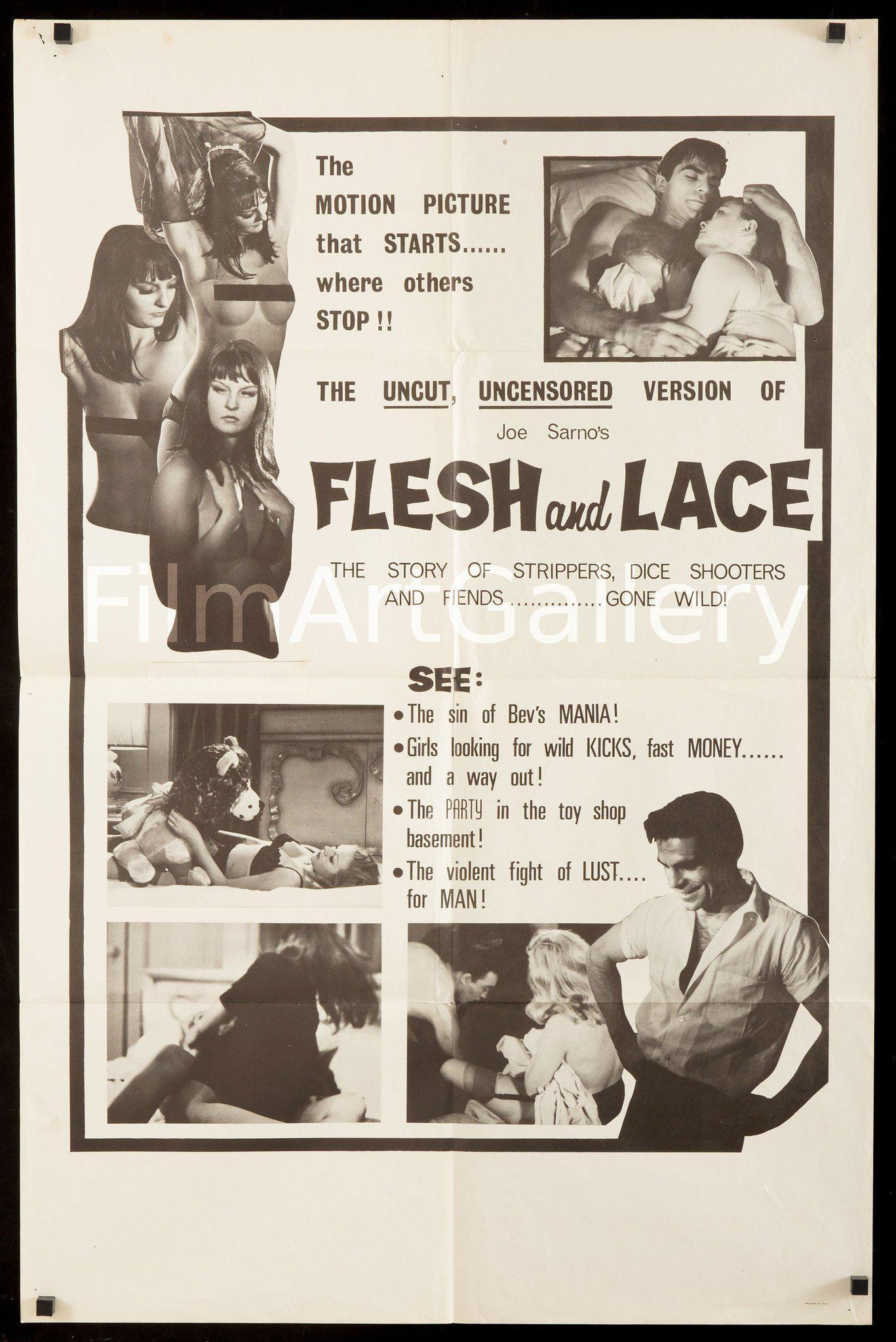Flesh and Lace 1 Sheet (27x41) Original Vintage Movie Poster