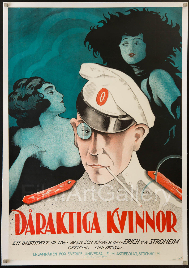 Foolish Wives (Daraktiga Kvinnor) 1 Sheet (27x41) Original Vintage Movie Poster