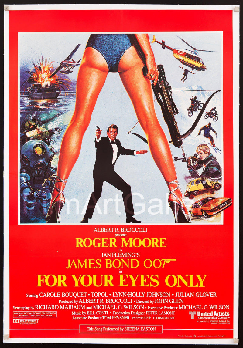 For Your Eyes Only 1 Sheet (27x41) Original Vintage Movie Poster