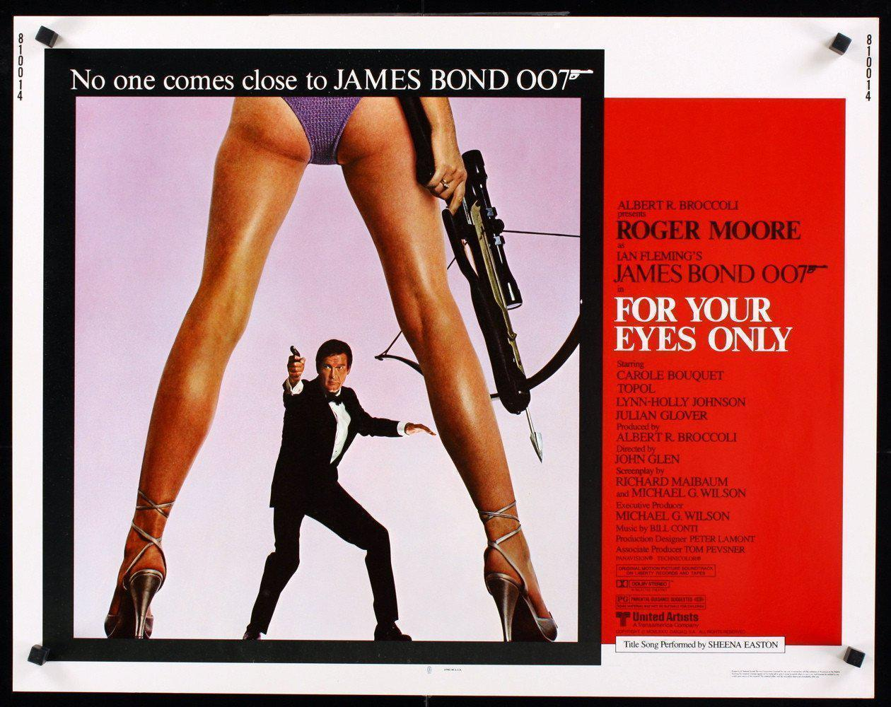 For Your Eyes Only Half sheet (22x28) Original Vintage Movie Poster