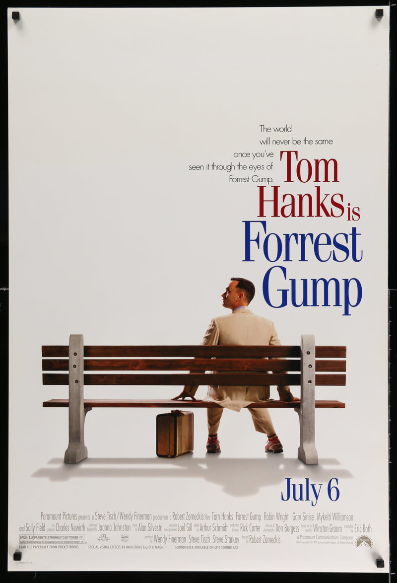 Forrest Gump 1 Sheet (27x41) Original Vintage Movie Poster