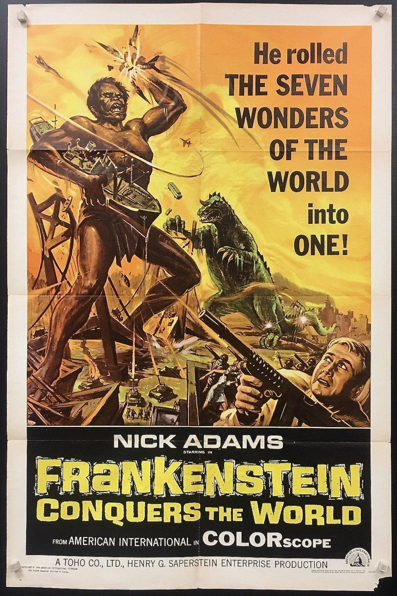 Frankenstein Conquers the World 1 Sheet (27x41) Original Vintage Movie Poster