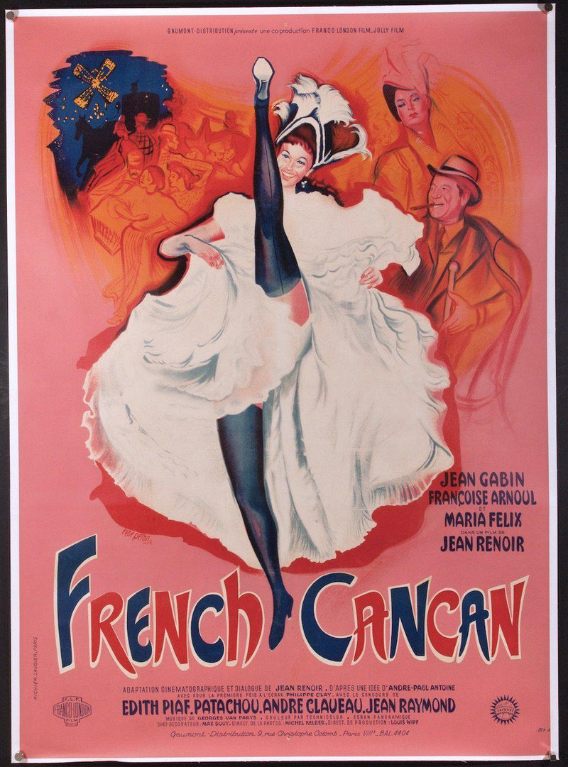 French Cancan French 1 panel (47x63) Original Vintage Movie Poster