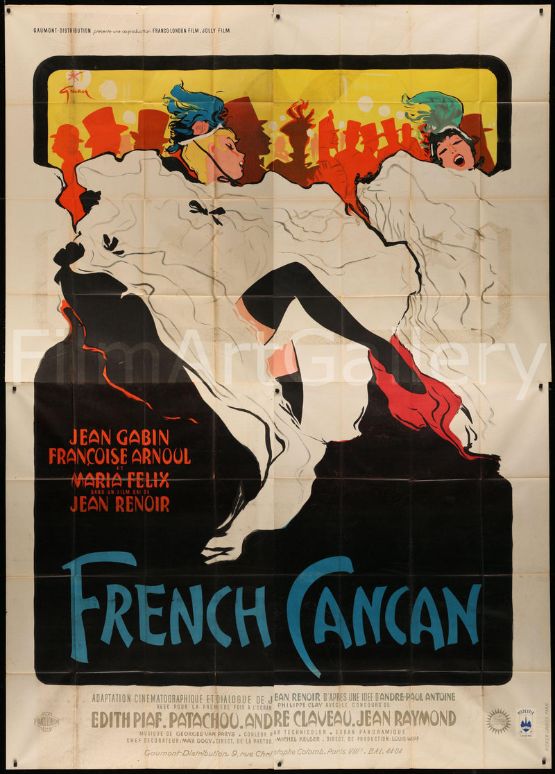 French Cancan French 4 Panel (88x123) Original Vintage Movie Poster