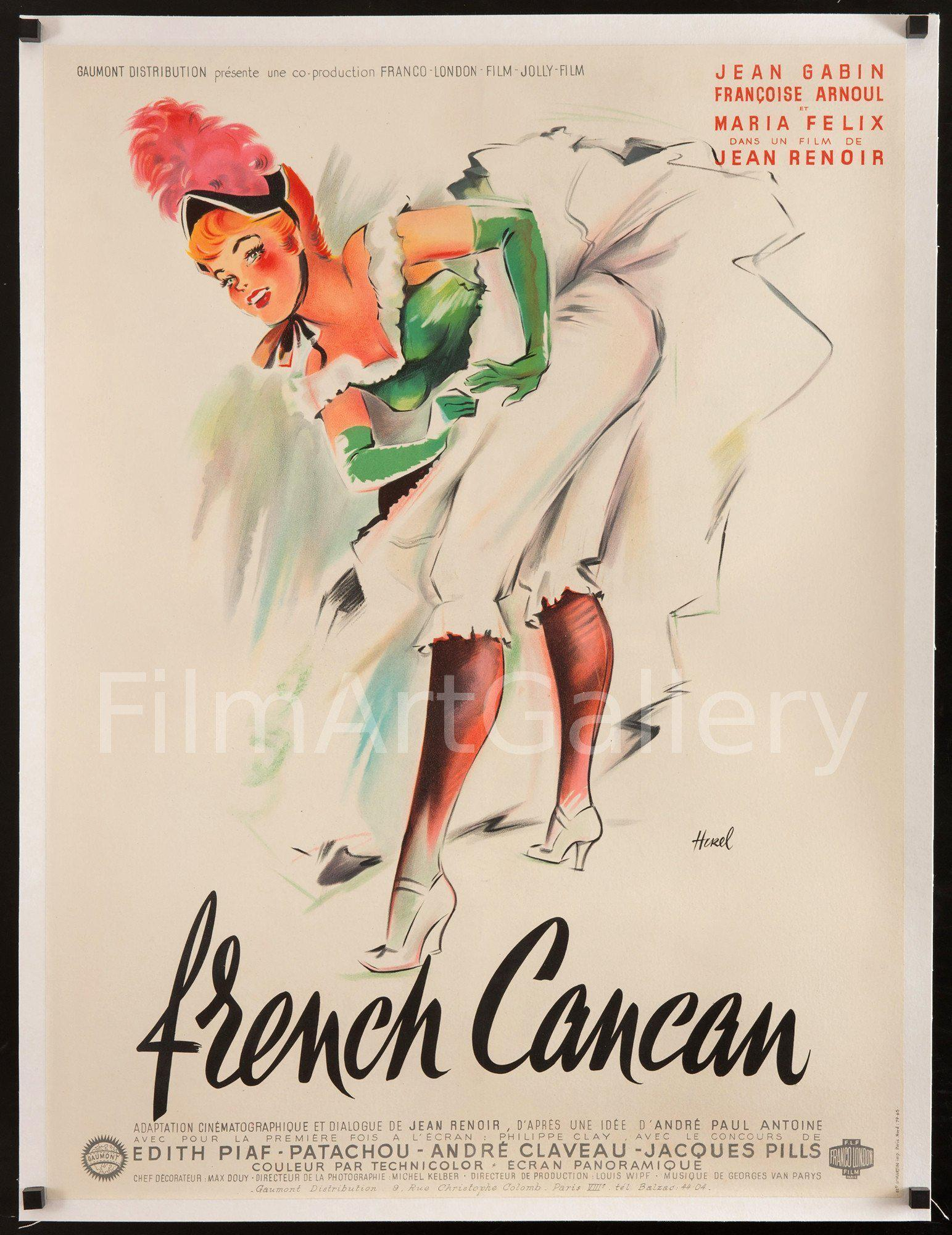 French Cancan French Small (23x32) Original Vintage Movie Poster