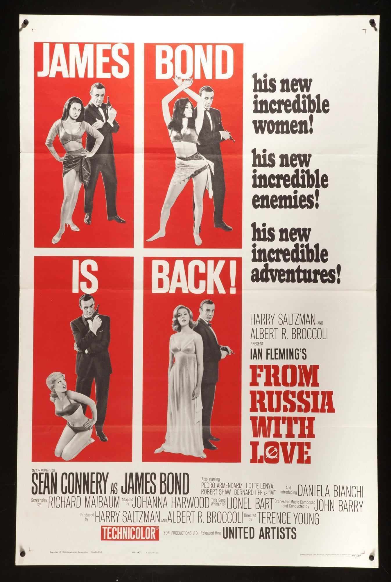 From Russia with Love 1 Sheet (27x41) Original Vintage Movie Poster