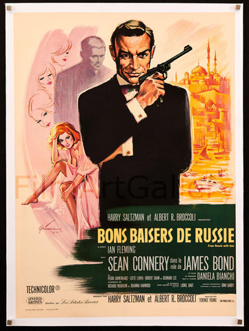 From Russia with Love French small (23x32) Original Vintage Movie Poster
